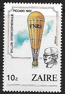 Zaire # 1164 - Hot Air Balloon - MNH