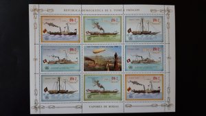 Sao Tome and Principe 1984. - Ships ** MNH Sheet (perforated) Db 7