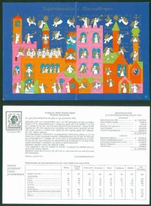 Denmark Christmas Seal 1970. Imprinted Sheet. Association Statement 1969.