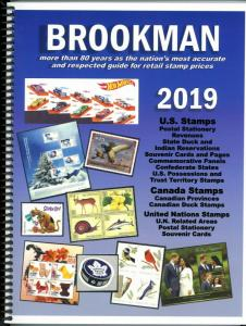 2019 Brookman Price Guide U.S. U.N. Canada Stamps Catalog Spiral Bound 352p