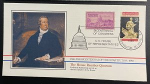 US #2412-2415 FDC (4 Covers) - Bicentennial of Constitution 1787-1987 [BIC64-82]
