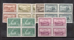 Canada #268 - #273 XF/NH Block Set