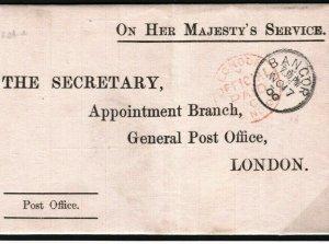 GB WALES Official Letter Bangor Complete *Medical Examiners Report* 1900 G194