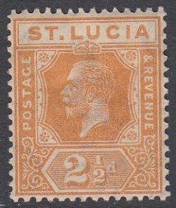 St. Lucia 82 MH CV $16.00