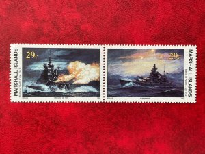 1993 Marshall Islands 2 Stamp Pair #497-498 WWII Battle Of North Cape MNH