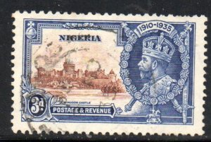 Nigeria Sc 36 1935 3d G V Silver Jubilee stamp used