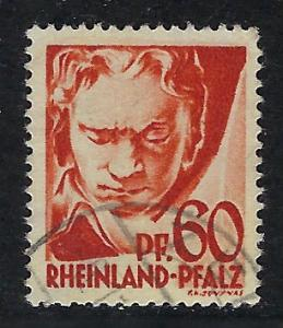 Germany - under French occupation Scott # 6N12, used