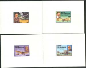 CENTRAL AFRICA Sc#297-302 1977 History of Aviation Cpl Set & SS Rare Card Proofs