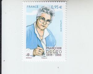 2018 France Francoise Dolto Pediatrician (Scott 5525) MNH