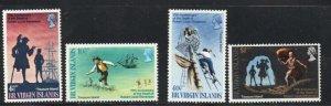 British Virgin Islands Sc 198-01 1969 Stevenson  stamp set mint NH