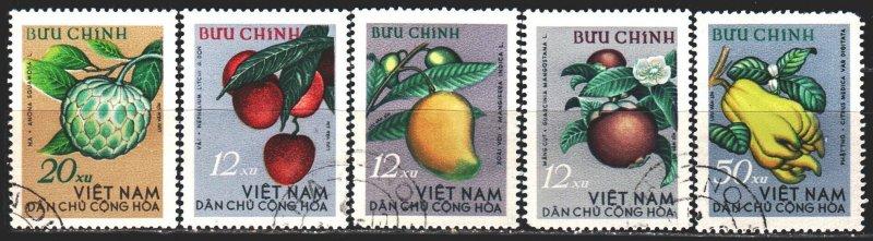 Vietnam. 1964. 334-38. Vietnamese fruits. USED.