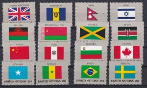 United Nations - New York # 399-414, 1983 Flag Issues, NH, 1/2 Cat.