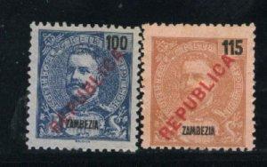 Zambezia 101,102   Mint 1898-1903 PD