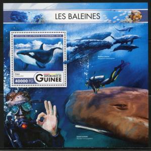 Guinea MNH S/S Whales Marine Life 2016