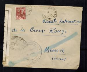 1944 Mareth Tunisia Internment Camp Cover to Red Cross Switzerland G Rizzuto