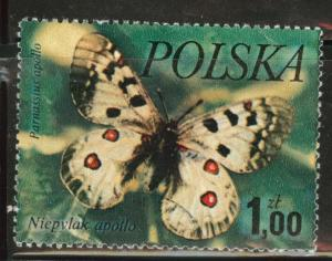 Poland Scott 2227 Used 1977  favor canceled Butterfly stamp