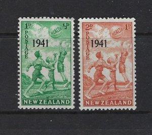 NEW ZEALAND SCOTT #B18-19 1941 SEMI-POSTAL MINT VERY LIGHT   HINGED