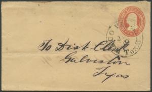 TEXAS MCLENNON COUNTY (1850's Waco Village) DPO 1850-1861 #416 W/O Flap