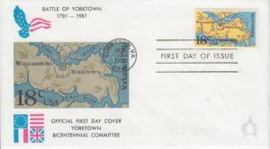 1981 Battle of Yorktown (Scott 1937) Andrews FDC