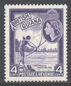British Guiana Scott 256 - SG334, 1954 Elizabeth II 4c MH*