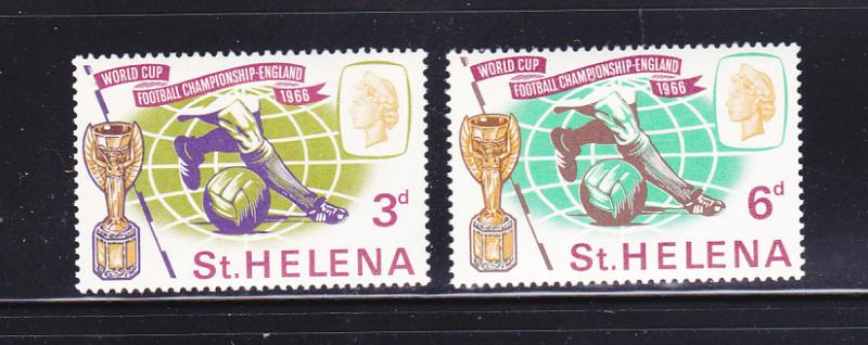 St Helena 188-189 Set MH Sports, World Cup Soccer