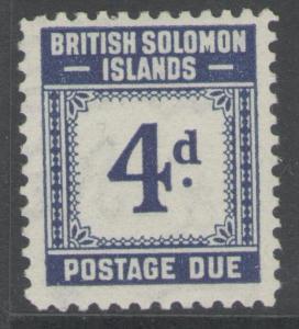 BRITISH SOLOMON IS. SGD4 1940 4d BLUE MTD MINT