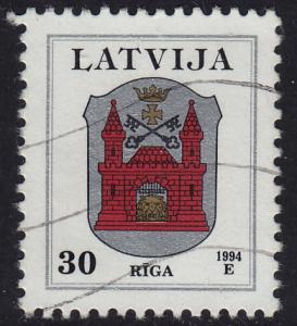 Latvia - 1994 - Scott #374 - used - Riga Arms