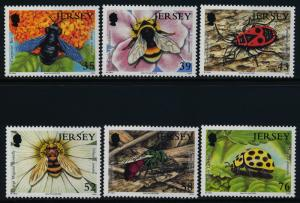 Jersey 1336-41 MNH Insects, Bees, Ladybug