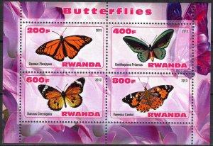 Rwanda 2013 Butterflies (2) MNH Cinderella !