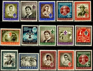 NICARAGUA Sc#778-782, C377-C386 1957 Boy Scouts Complete Set OG Mint NH