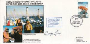 British Antarctic Territory FDC Sc 148 Signed George Lowe Cachet South Ice Pl...