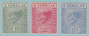 NEGRI SEMBILAN 2-4  MINT LIGHTLY HINGED OG * NO FAULTS VERY FINE ! - T562