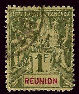 Reunion #52 Used F-VF SCV$35.00...Popular British Island Country!