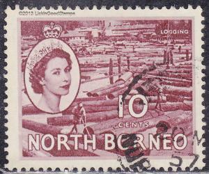 North Borneo 267 USED 1954 Logging