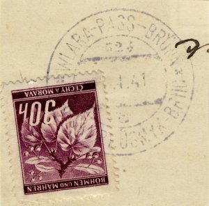 BÖHMEN u. MAHREN - 1941  WLARA PASS-BRÜNN  TPO n°523a bilingual CDS on Mi.24