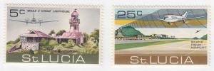 St Lucia, Sc # 294-295, MNH, 1971, Beanefield & lighthouse
