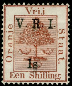 SOUTH AFRICA - Orange Free State SG121, 1s on 1s brown, M MINT. Cat £11.