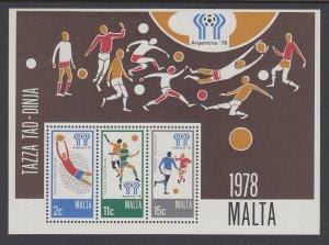 Malta 551a Soccer Souvenir Sheet MNH VF