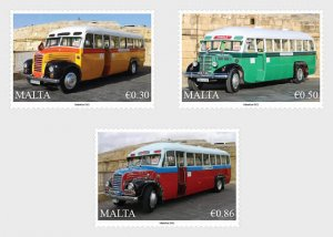 Stamps of Malta 2021. - Maltese Buses - Set.