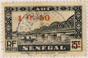 A.O.F./SENEGAL - 1944 - CAD FORECARIAH / GUINÉE FRANÇAISE sur Yv.189 / Mi.224