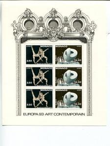 Monaco 1993 Europa mini sheet   Mint VF NH
