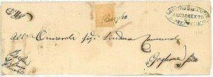 ITALIA REGNO: ANNULLO COLLETTORIA lineare BARGHE 1877