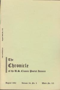 The Chronicle of the U.S. Classic Issues, Chronicle No. 115