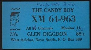 QSL QSO RADIO CARD  The Candy Boy, West Arichat, Nova Scotia Canada (Q511)