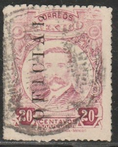 MEXICO O129, 20¢ OFFICIAL. Used. F-VF. (1151)