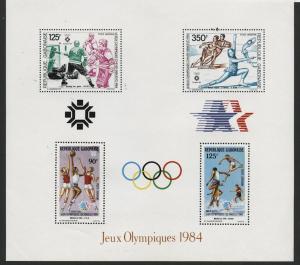 GABON, OLYMPIC GAMES 1984 SOUVENIR SHEET