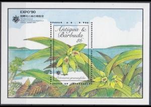 1990Antigua & Barbuda1338/B175Flowers