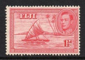 Fiji 1938 KGVI 1½d Canoe die I (empty canoe) SG 251 mint