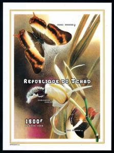 [77250] Tchad Chad 1998 Insects Butterflies Flower Souvenir Sheet MNH