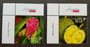 *FREE SHIP Singapore Vietnam Joint Issue Fruits 2008 Durian Tree (stamp logo MNH